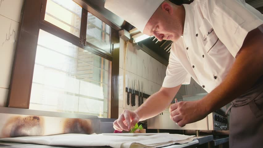 People, job, profession, occupation, chef cooking, preparing food, professional cook at work in restaurant kitchen. 2of26