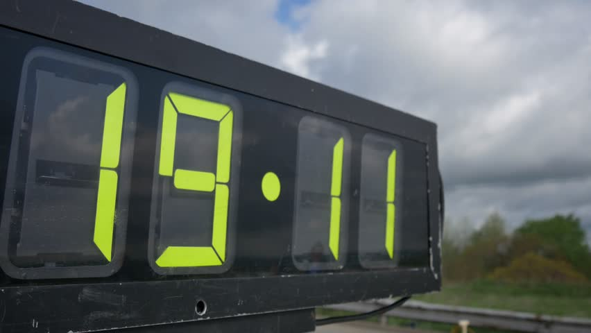 A Race Clock Counts Up. Stock Footage Video 408955 - Shutterstock