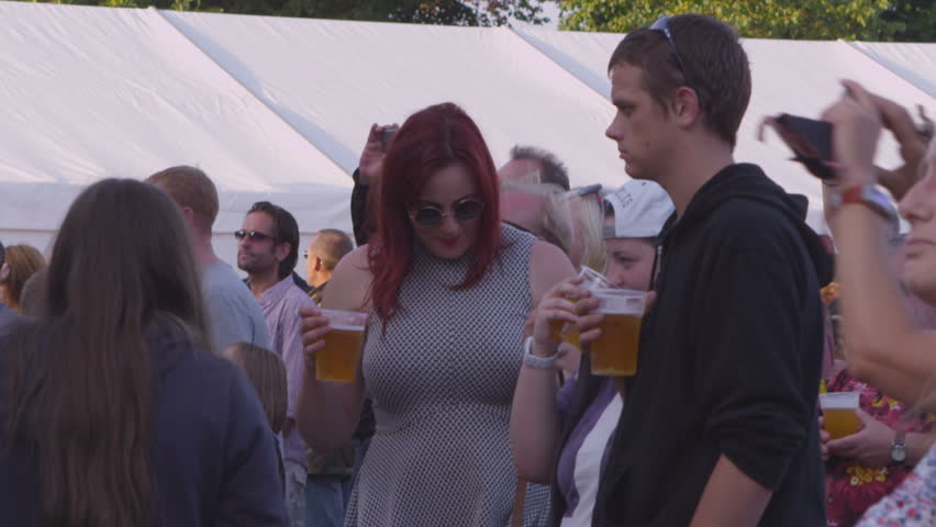GOSPORT, UK - CIRCA 2013 - Crowd at music festival - HD stock footage clip