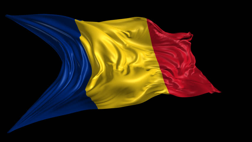 Flag of Romania Beautiful 3d animation of The Romania flag with alpha channel in 4k resolution  | Shutterstock HD Video #6395600