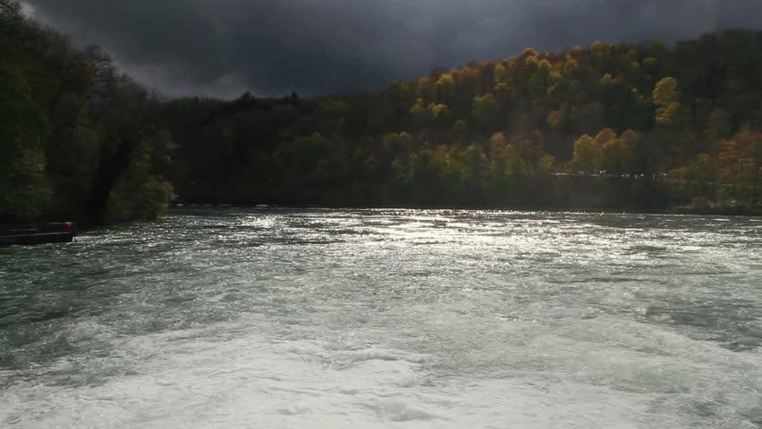 Rhine Falls near Schaffhausen in Switzerland - circa 2012. - HD stock footage clip