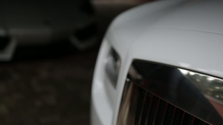 Rolls Royce Front Logo Emblem Panning Shot