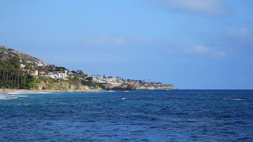 Offshore Swell at Aliso Beach, Laguna Beach, California,USA - HD stock video clip
