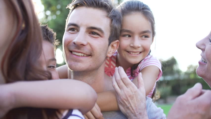 Slow Motion Sequence Of Multi-Generation Family In Park | Shutterstock HD Video #6442643