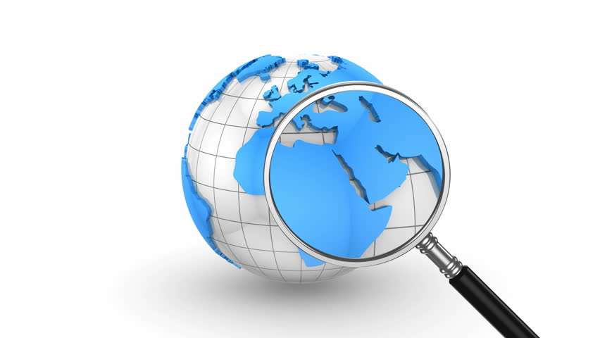 Global search. White background, loop