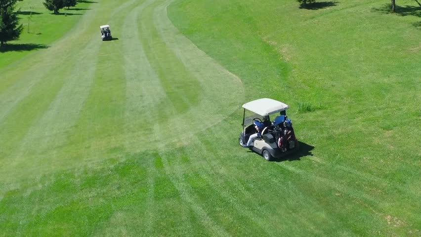 Aeriel view of a golf course | Shutterstock HD Video #6486293