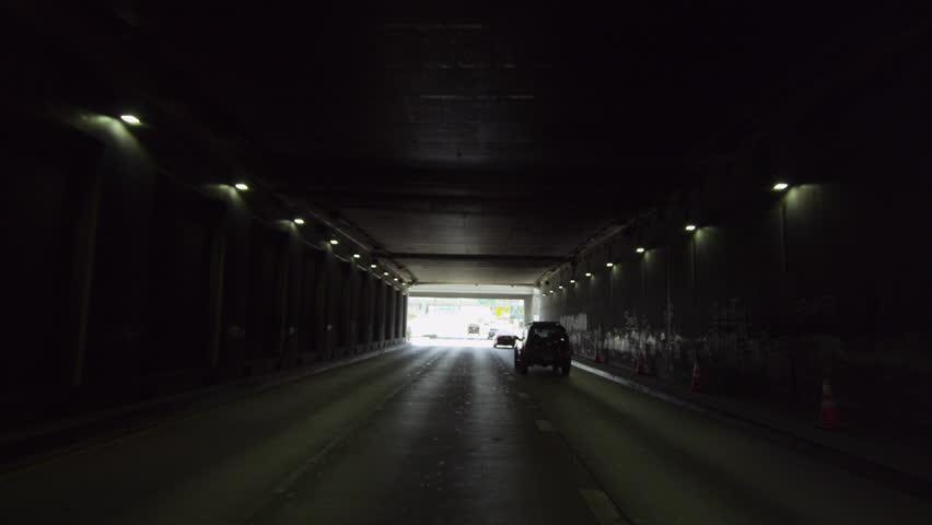 Tunnel - 4K stock video clip