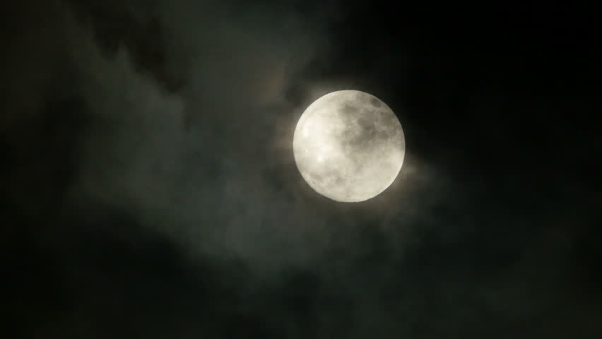 Full moon. night sky. moonlight. clouds. darkness. spooky scary. mystic mystery.  3840x2160. 4k | Shutterstock HD Video #6500603