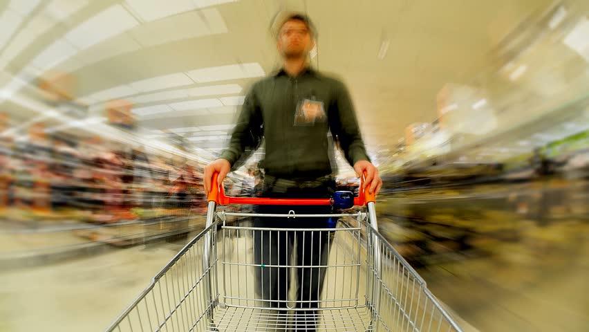 Empty Trolley Supermarket