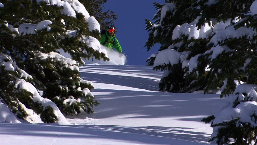 Carving skiing in slow motion.
