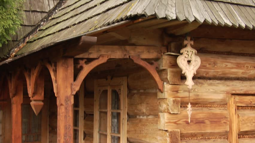 Chocholow poland circa 2011 200 years old wooden log houses the houses in chocholow - Traditional polish houses wood mastership ...