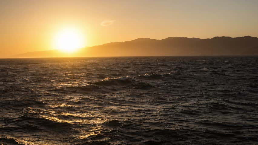 Sun setting behind the Santa Monica Mountains time lapse video   Shutterstock HD Video #6611411