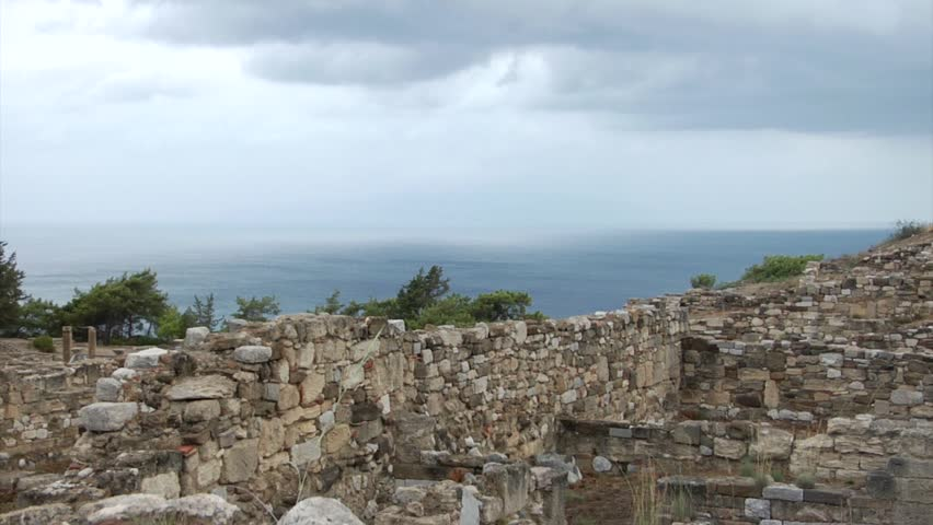 The Ruins Of The Ancient City Of Kameiros. Rhodes Island ...