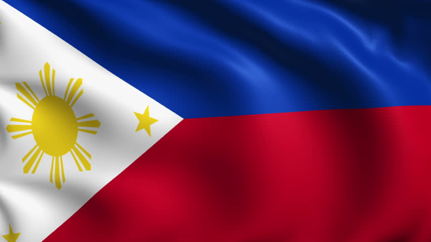 flag of the Philippines with fabric structure; looping
