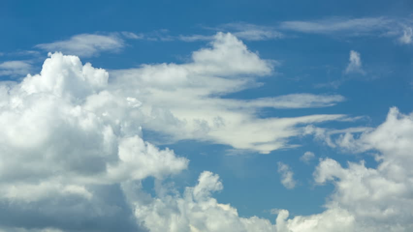 White clouds in the sky before storm, timelapse | Shutterstock HD Video #6660560