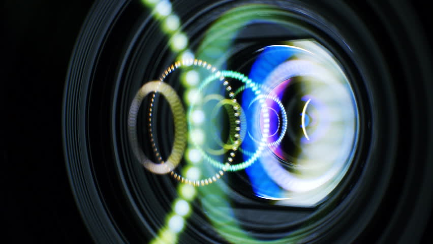 Video Camera Lens Reflection Enging footage stock clips Video Camera Lens Reflection