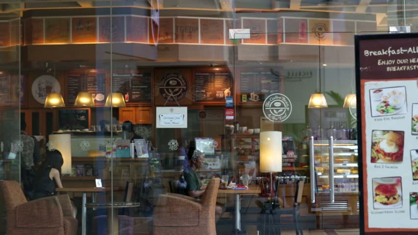 KUALA LUMPUR, MALAYSIA - CIRCA JUNE 2014: The Coffee Bean & Tea Leaf outlet at Low Yat Plaza. The Coffee Bean is an American coffee chain, which currently has over 990 outlets in 27 countries.