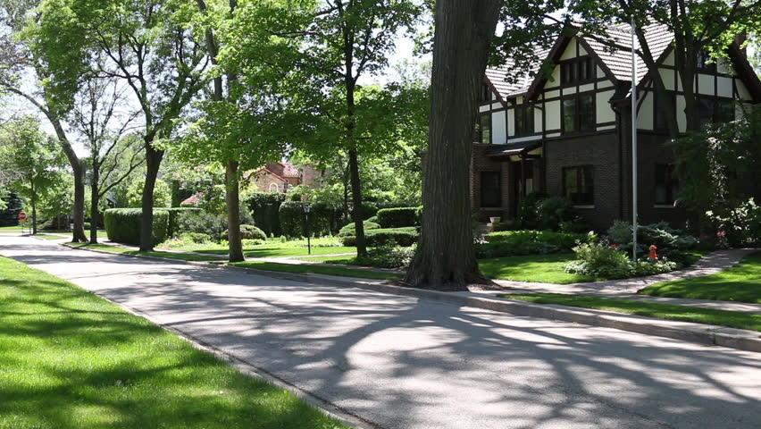 Generic Suburban Homes And Streets Scenes Park Ridge