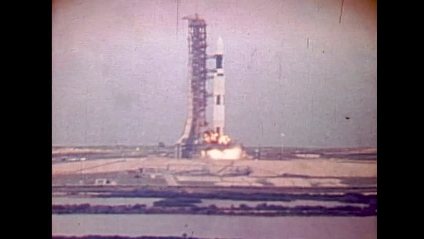 CIRCA 1970s - Skylab mission takes off from Marshall Space Center Cape Canaveral.