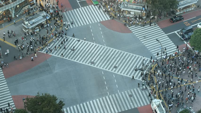 Time-lapse Shibuya cross-walk - HD stock video clip