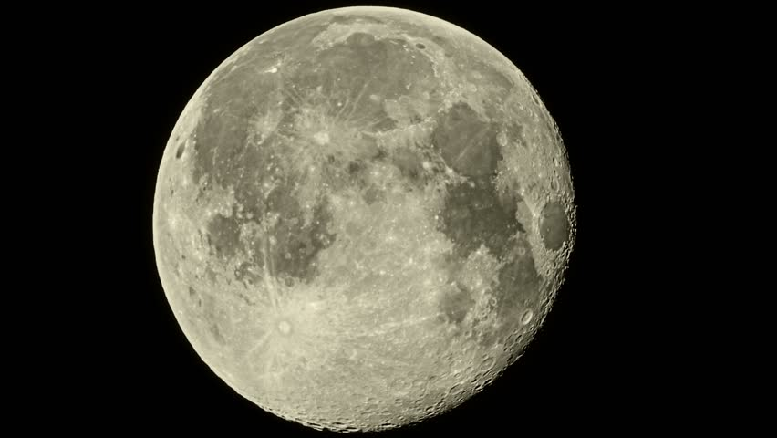 Video 1080p the full moon in the sky with the details - Moon close up ...