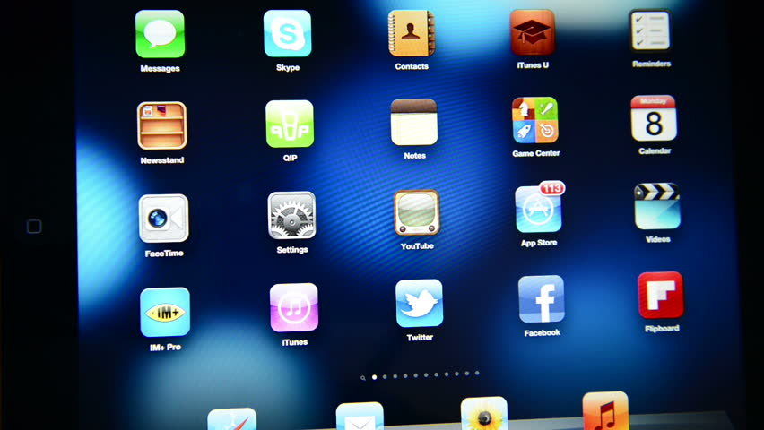 SIMFEROPOL, UKRAINE - OCTOBER 8, 2012: YouTube app on the white Apple iPad screen. YouTube is the popular online video-sharing website, founded in February 14, 2005