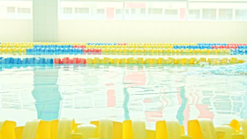 Young swimmer in a swimming pool