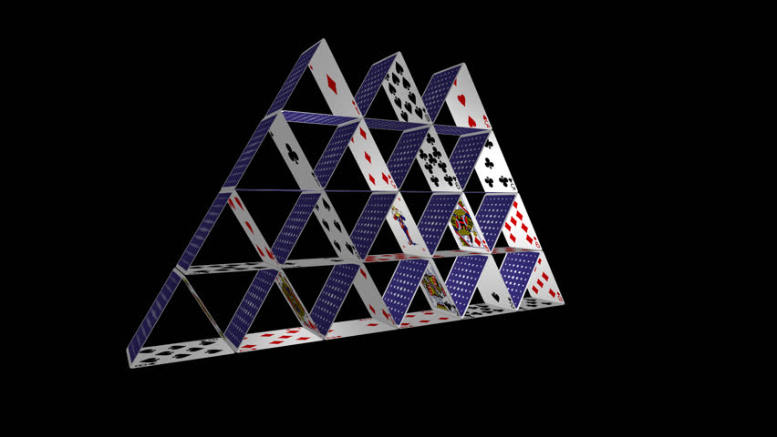 Card House - Spinning Loop - 1 - 30 Fps - House Of Playing ... House Of Playing Cards