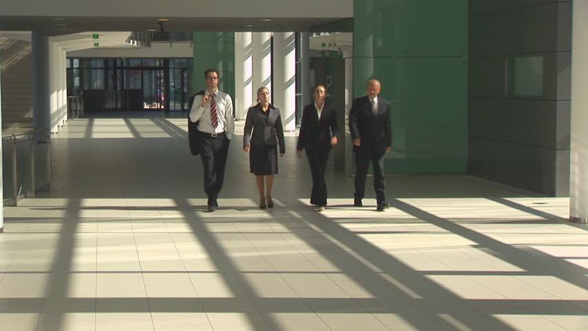 walking businessteam