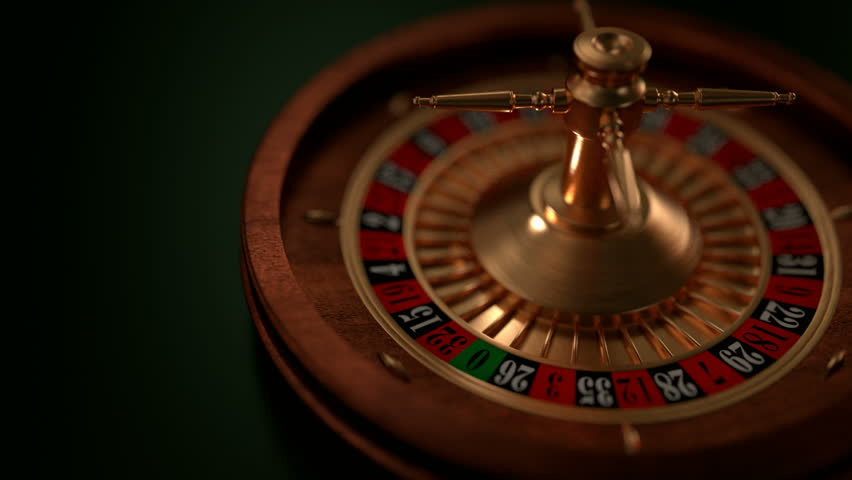 Animated looping clip of a spinning roulette wheel stock for Asino amiatino