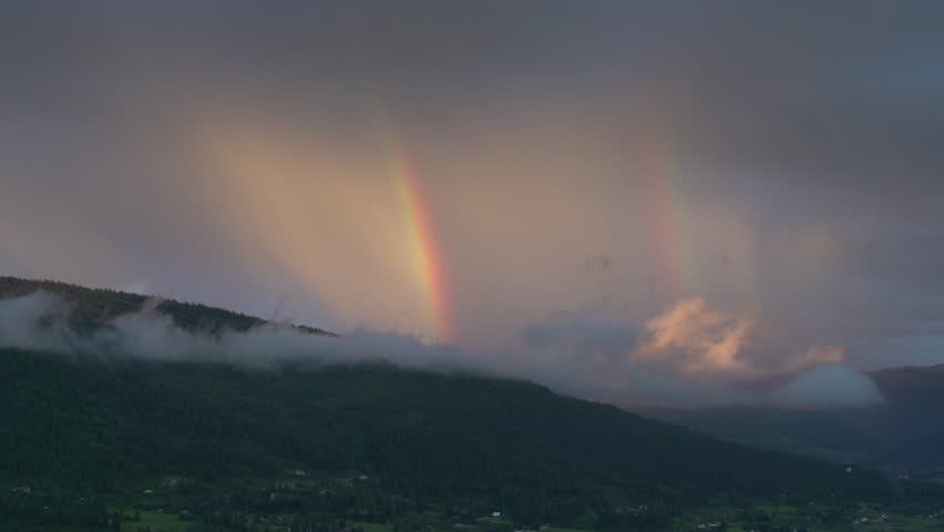 time-lapse, rainbow fading