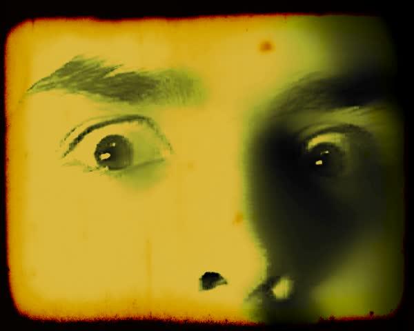 Looping old horror movie scene.