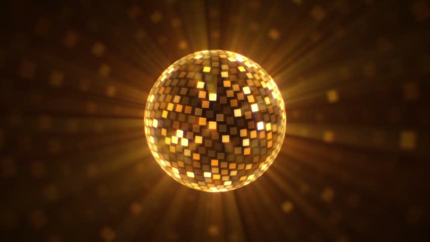 Gold disco balls