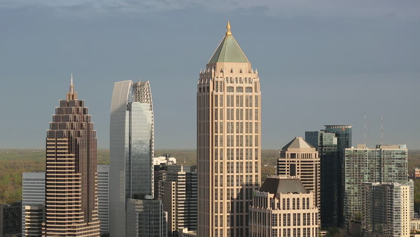 Atlanta (IL) United States  City pictures : ... Midtown Atlanta skyline, Georgia, United States of America Stock video