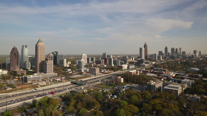 Atlanta (IL) United States  city pictures gallery : ... Midtown Atlanta skyline, Georgia, United States of America Stock video