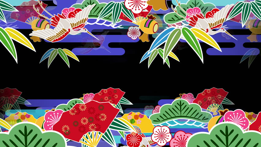 """Japanese Pattern """"symbol of good luck"""" background."""