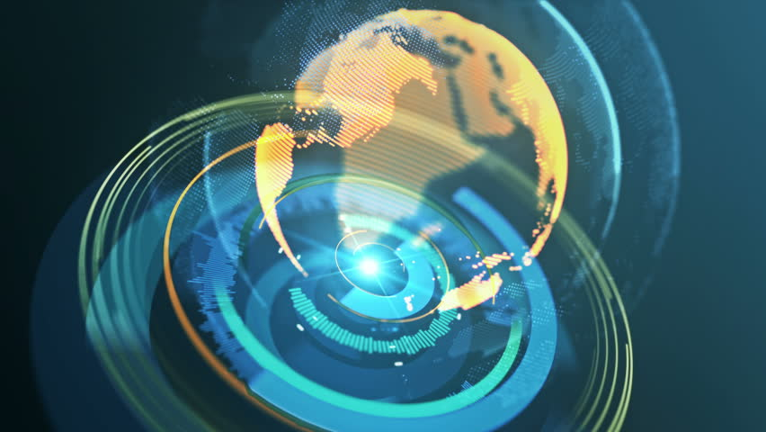Global earth technology concept. Seamless loop. 4K.