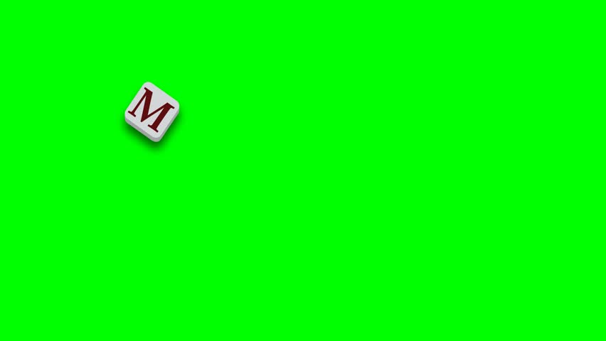 Valentine's Day greeting card phrase, saying. My love for you with colorful blocks on green screen - 4K stock video clip