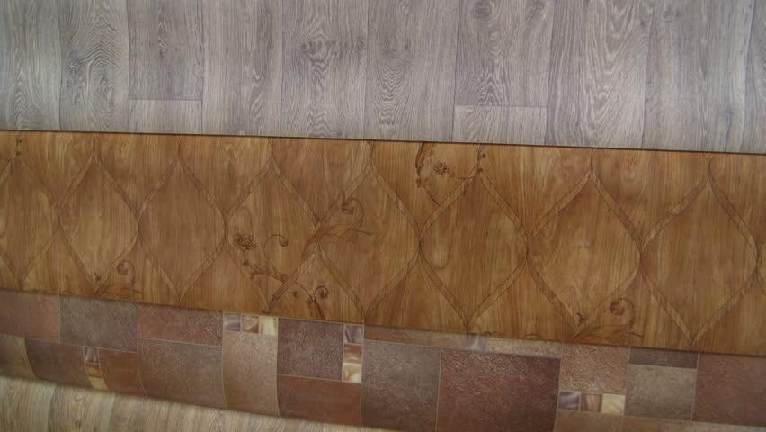 Variety of linoleum rolls in flooring warehouse stock for Linoleum flooring rolls
