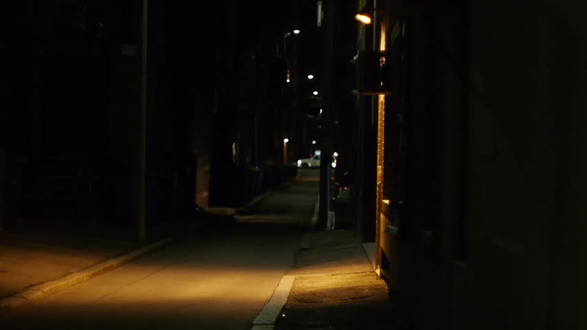 Boston Alley at Night