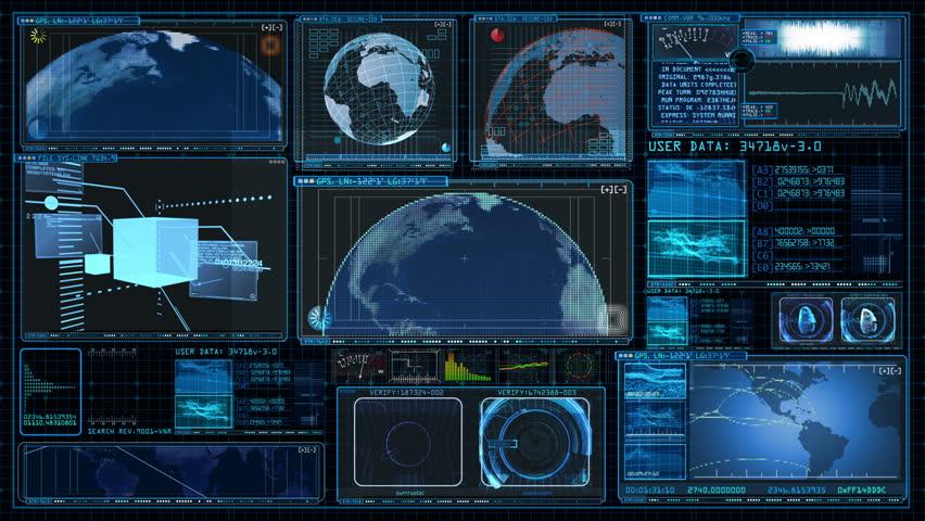 Technology Interface Computer Data Screen GUI 4K