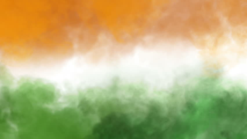 three colors smoke animation, like tricolors of indian national flag - HD stock video clip