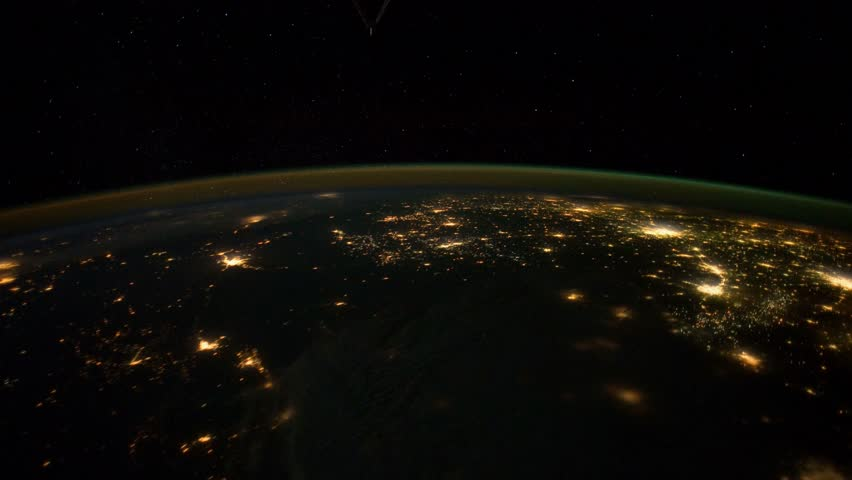 Beautiful planet Earth seen from the International Space Station ISS, the blue planet shows its beauty when seen from the cosmos. Elements of this image furnished by NASA