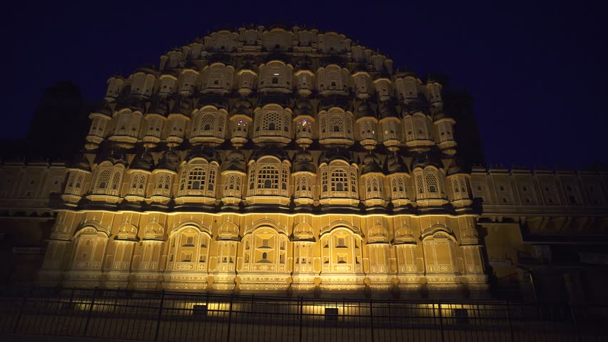 Hawa Mahal Hd Images: Hawa Mahal- Palace Of Winds, Jaipur, India. Time Lapse