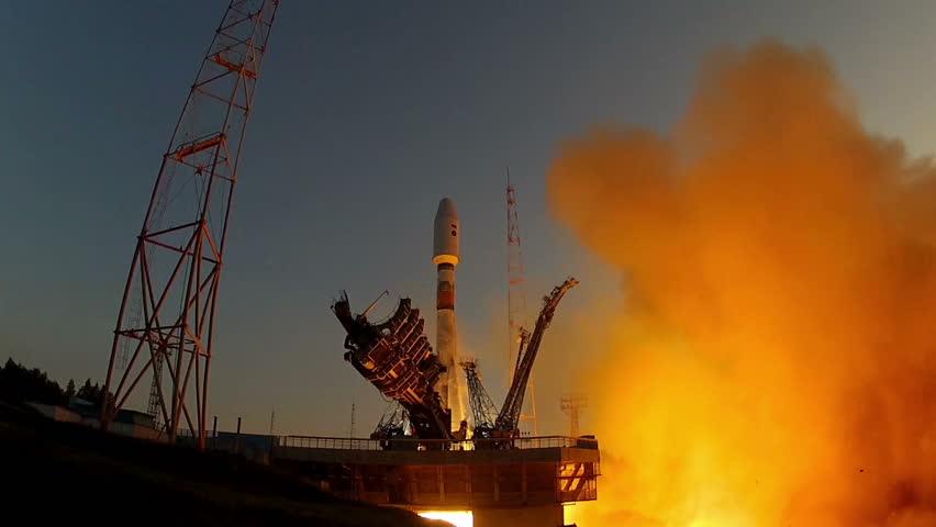 Russian rocket take off