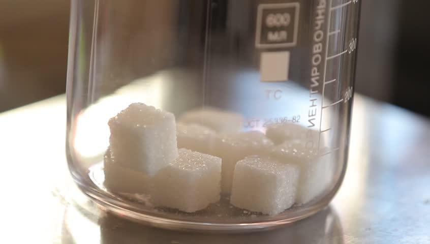chemical laboratory, samples of milk