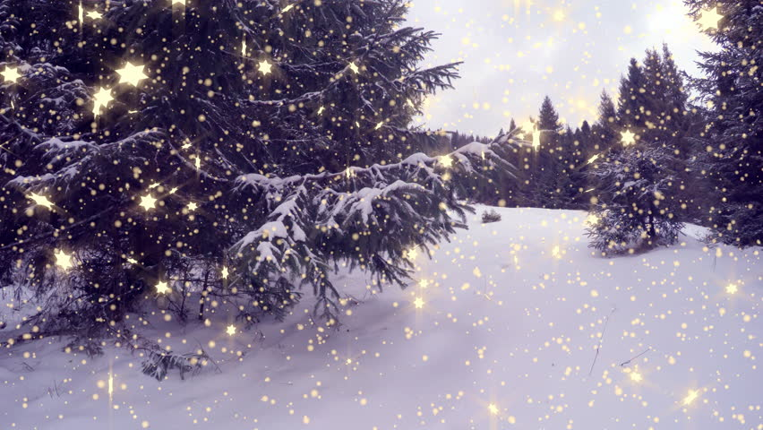 4k, New Year,christmas,3d winter background - 4K stock footage clip