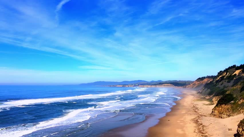Beautiful californian landscape san gregorio state beach for Pretty beaches in california