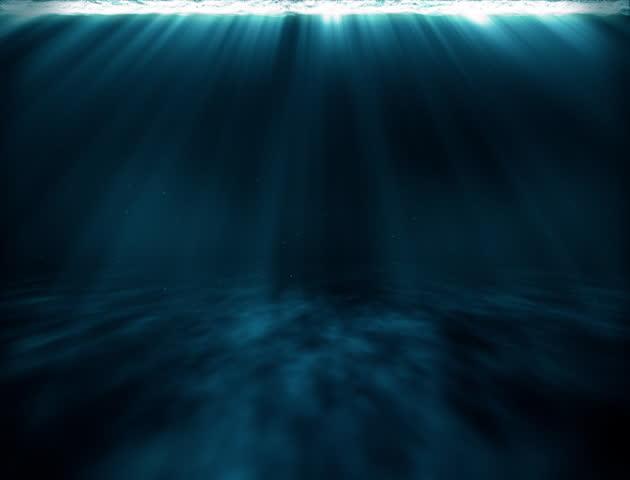 Surreal Underwater Travel Light Rays Loop - 4K stock video clip