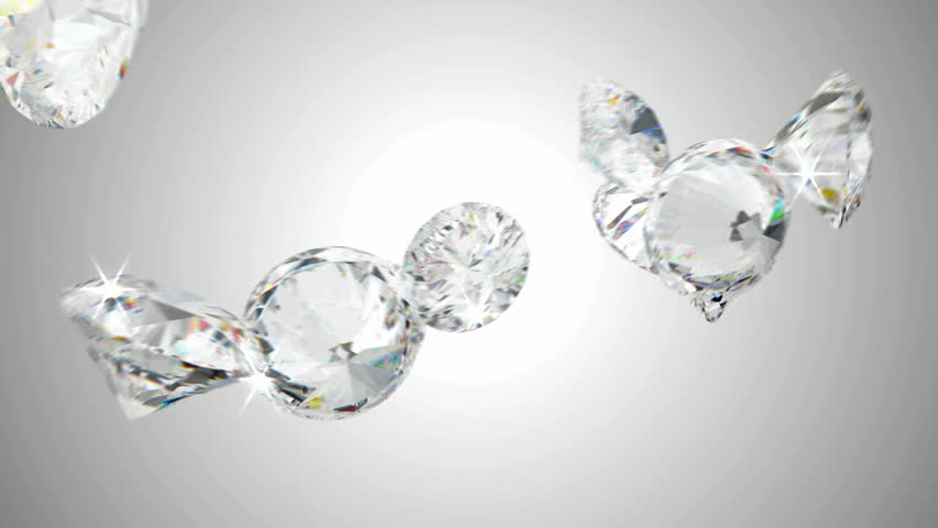 Large diamonds flow with slow motion